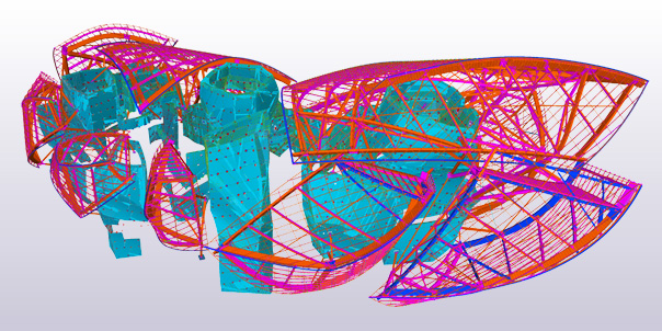 Tekla Structures Open API and Fondation Louis Vuitton in Paris by Frank Gehry