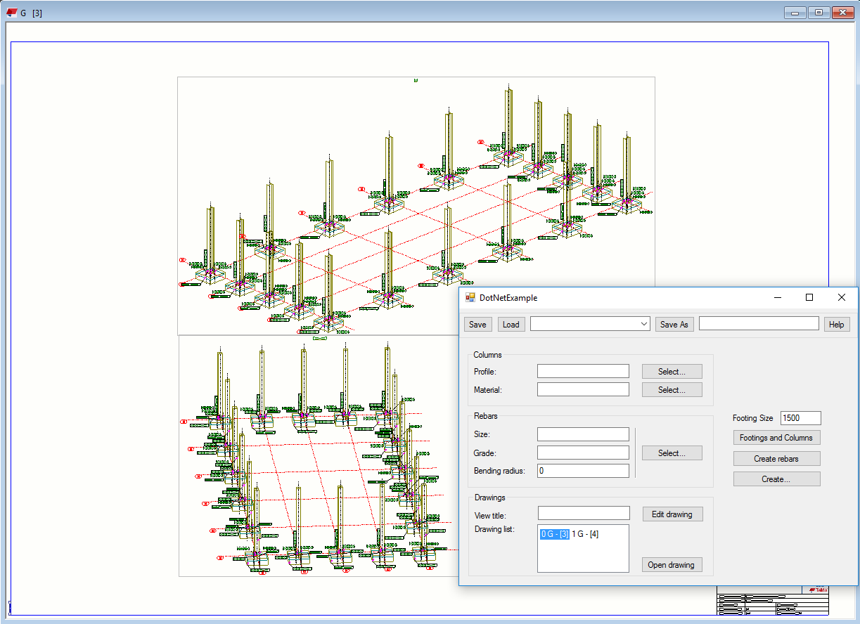 Tekla structures Open API browse through drawings list and open a drawing