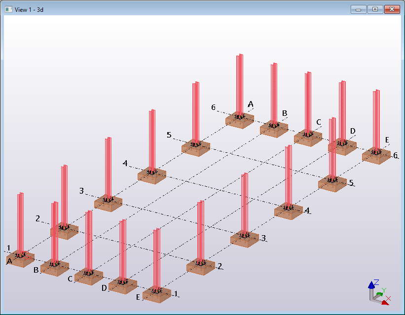 Tekla Structures Open API model connect column to pad footing