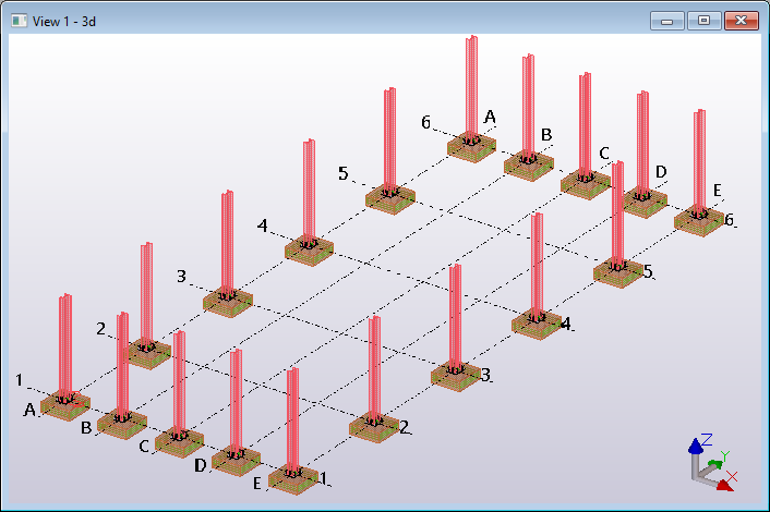 Tekla Structures model open API create rebars to pad footings