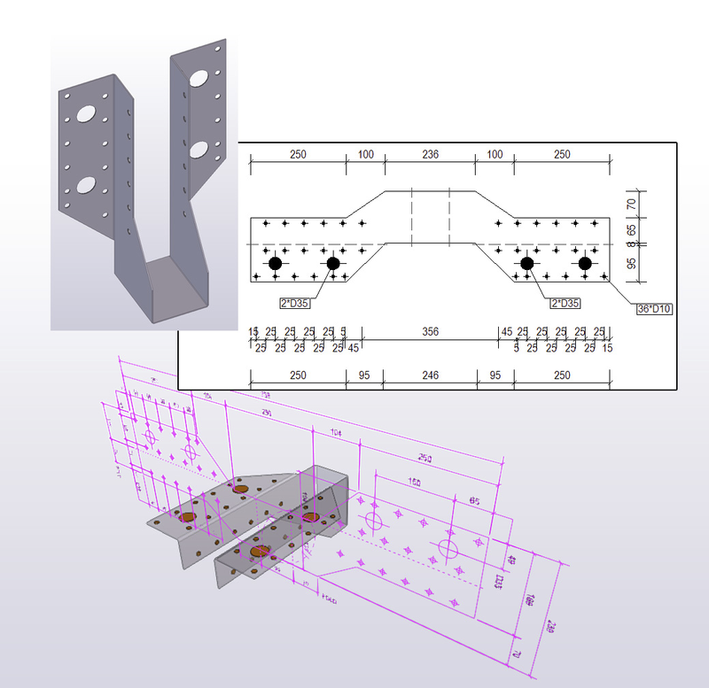 Tekla Open API drawing code examples