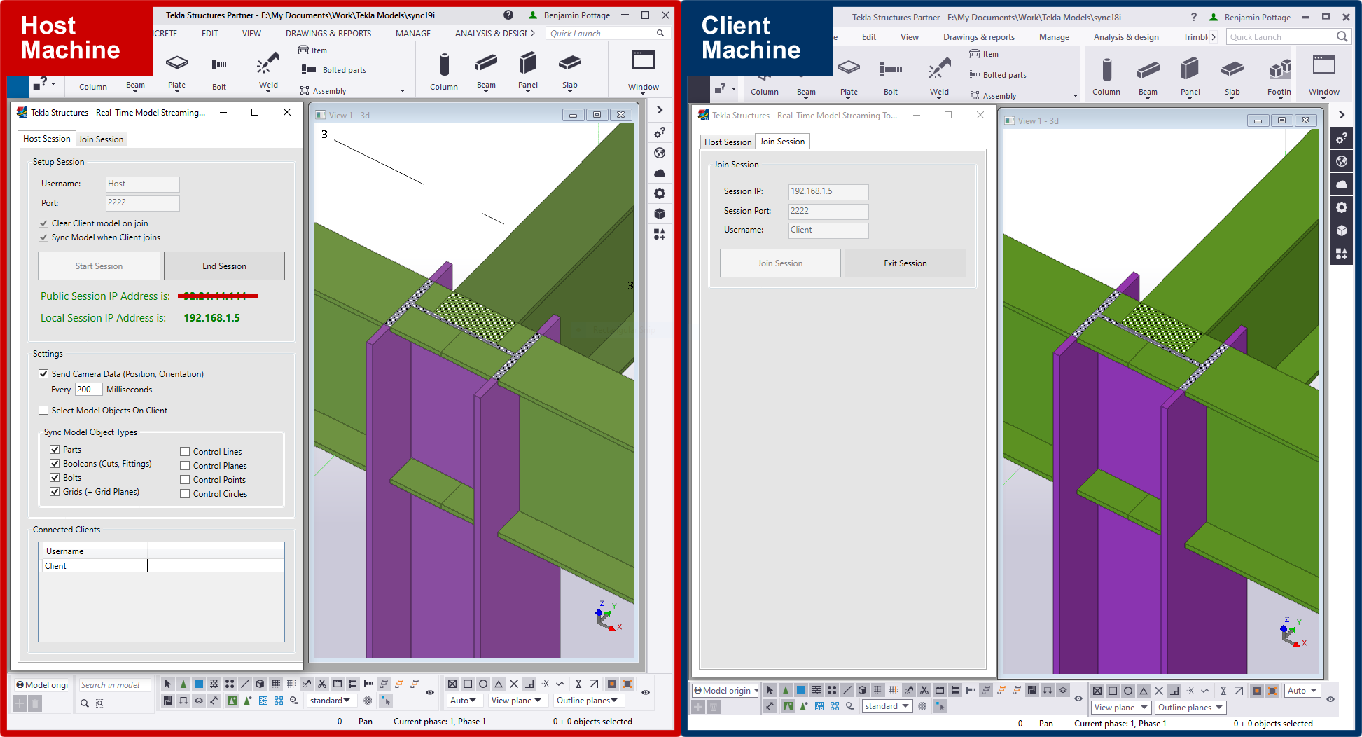Tekla Developer Awards Real Time Streaming Tool screenshot