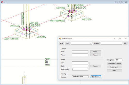 Tekla structures Open API add text to drawing