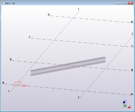 Tekla structures model Open API create a beam using user input