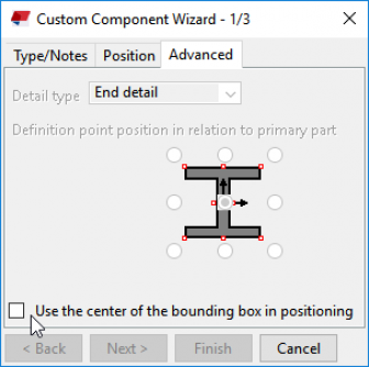 Tekla Structures embed creation in practice - custom component wizard checkbox