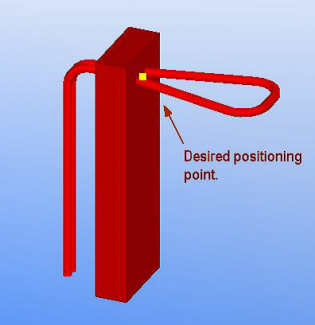 Tekla Structures embed creation in practice - positioning point