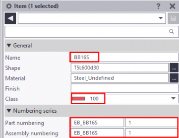 Tekla Structures embed creation in practice - item attributes