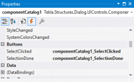 Tekla structures Open API user interface Componentcatalog